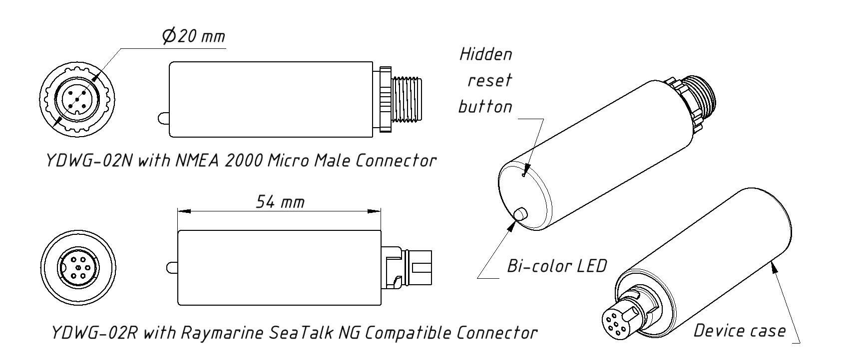 YDWG NMEA2000 Wifi Koppeling