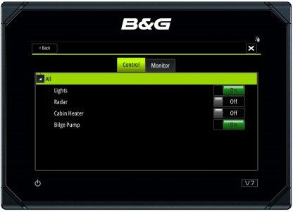 B&G kaartplotter stuurt YDCC aan